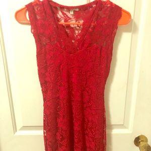 Red xs mini dress lace